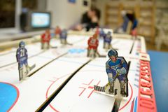 Table hockey player royalty free stock images