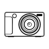 Figure technologic digital camera icon. Illustration design Stock Photography