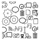 Figure technology icons background. Illustraction design Royalty Free Stock Photos