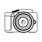 Figure technology professional camera icon Stock Image
