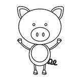 Figure teddy pig icon Royalty Free Stock Images