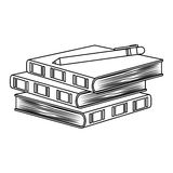 Figure three notebooks with a pen image. Figure three notebooks with a pen on top image,  illustration Royalty Free Stock Photos