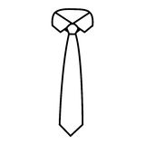 Figure tie with neck shirt icon Stock Photography
