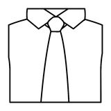 Figure tie with shirt icon Royalty Free Stock Photos