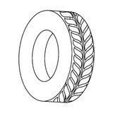 Figure tire of car icon image. Illustration image Royalty Free Stock Photography