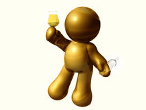figure toasting drink. Figure toasting wine together for business success Royalty Free Stock Photos