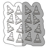 Figure traffic cones background icon. Illustraction Stock Images