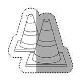 Figure traffic cones icon. Illustraction design image Royalty Free Stock Image