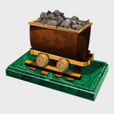 Figure truck with ore, symbolic gift to the miner Royalty Free Stock Photo
