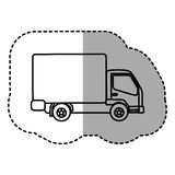 Figure trucks trailer icon Royalty Free Stock Images