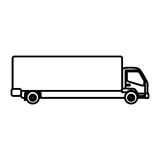 Figure trucks trailer icon Stock Photo