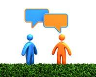 Figure umane di conversazione Immagine Stock