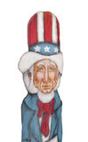 Figure of Uncle Sam isolated. Royalty Free Stock Images