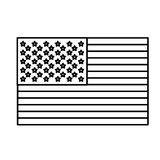 Figure United States flag icon. Illustraction design image Stock Photos