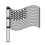 Figure United States flag icon. Illustraction design image Royalty Free Stock Photo
