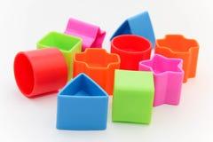 Figure variopinte del giocattolo Fotografia Stock