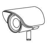 Figure video camera exterior icon. Illustration design Stock Photos