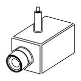 Figure video camera interior icon. Illustration design Royalty Free Stock Photos