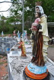 A figure of the virgin Maria the mother of Jesus in the ruins of Armero Colombia Stock Images
