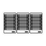 Figure web hosting server banner icon. Illustration design Stock Image