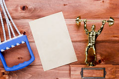 Figure weightlifter expander Stock Image