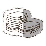 Figure white bread icon. Illustraction design image Stock Image