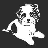 Figure White Dog. Illustration Figure White Dog on a Gray Background Stock Photography