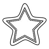 Figure white star icon. Illustraction design image Stock Image