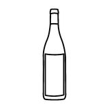 Figure wine bottle icon Royalty Free Stock Photos