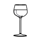 Figure wine inside the glass icon. Illustraction design Stock Image