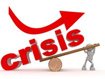 Figure winning over crisis Stock Photography