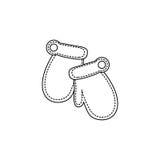 Figure winter gloves icon. Illustraction design Stock Photo