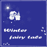 Figure winter village. Fairy tale Royalty Free Stock Photos