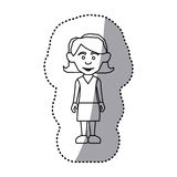 Figure woman with casual cloth icon. Illustraction Royalty Free Stock Image
