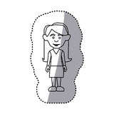 Figure woman with casual cloth icon. Illustraction Stock Photos