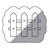Figure wood grid icon Royalty Free Stock Images