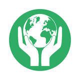 Figure world nature conservancy icon Royalty Free Stock Image