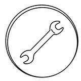 Figure wrench emblem icon. Illustraction design Stock Photos