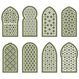 Figured arabian window ornament - grating arabesque pattern Royalty Free Stock Photography