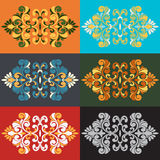 Figured Baroque element. Set of Baroque figurative elements colored Royalty Free Stock Photography
