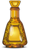Figured bottle. S from decorative glass for perfumery, vector illustration Stock Image