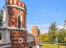 Figured bridge. Museum-Reserve Tsaritsyno. Moscow Stock Image