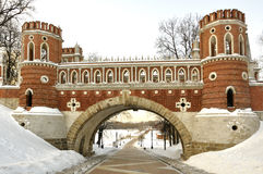 Figured bridge in Tsaritsyno , Moscow. Stock Image