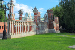 Figured bridge in Tsaritsyno. Moscow. Royalty Free Stock Photography