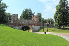 Figured bridge in Tsaritsyno. Moscow Stock Images