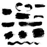 Figured brush strokes  illustration. Royalty Free Stock Photography