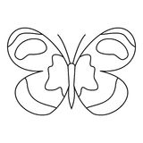 Figured butterfly icon, outline style Stock Photo