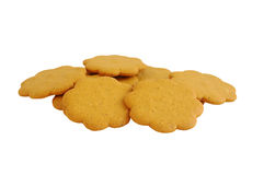 The figured cookies isolated Stock Photo