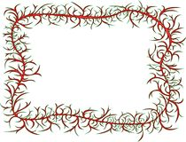 Figured frame. Frame figured red with green keyline on white background Stock Photography