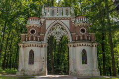 The Figured Gate in the Tsaritsyno park in Moscow Stock Image
